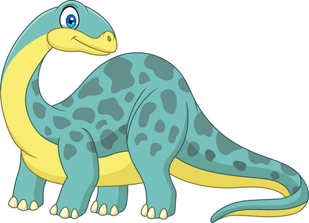 Cartoon smiling brontosaurus  イラスト・ベクター素材
