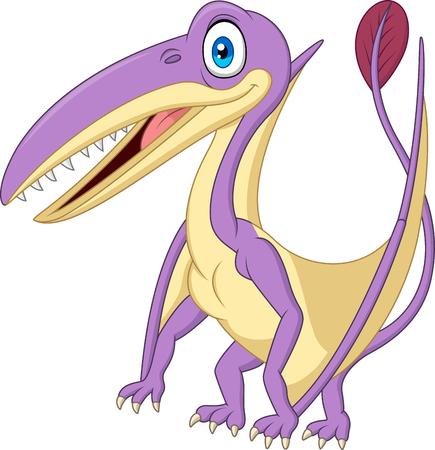 Cartoon pterosaurus isolated on white background
