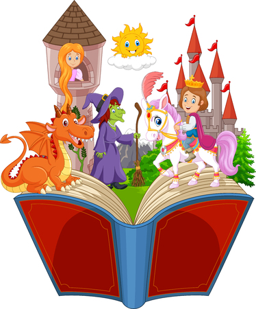 Imagination in a children fairy tail fantasy book