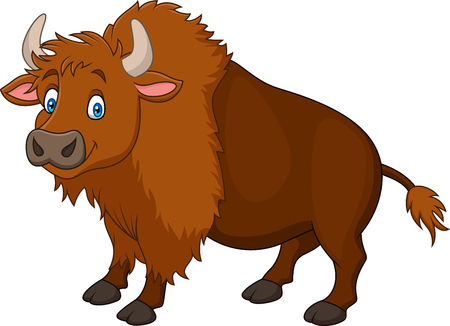 Cartoon happy bison
