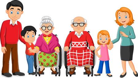 Cartoon happy family