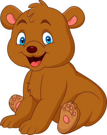 Cartoon happy baby bear Ilustracja