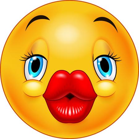 Cute kissing emoticon