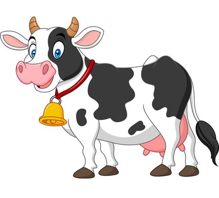 Dessin animé, vache heureuse