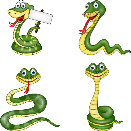 snake collection set Illustration