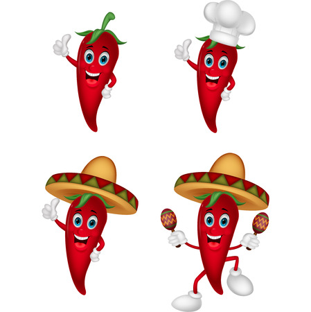 Cartoon chili collection set