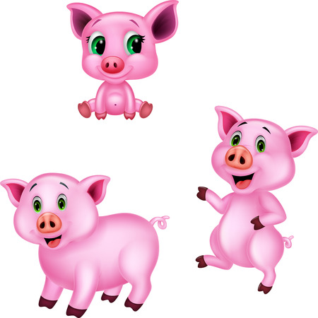 Cartoon pig collection set