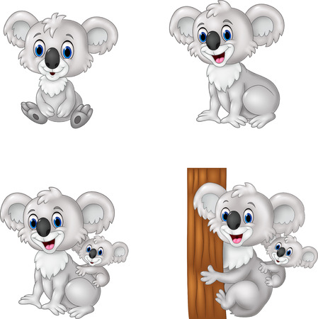 cartoon koala collection set