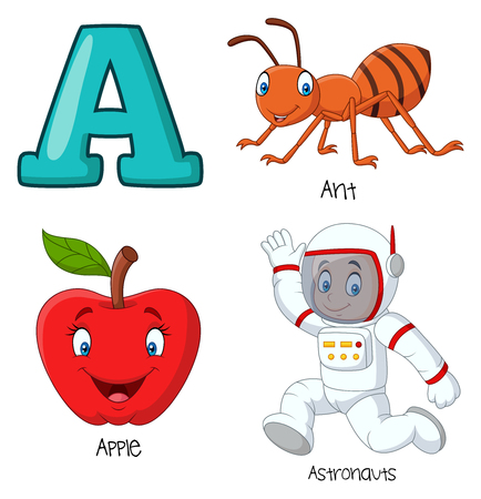 Vector illustration of A alphabet