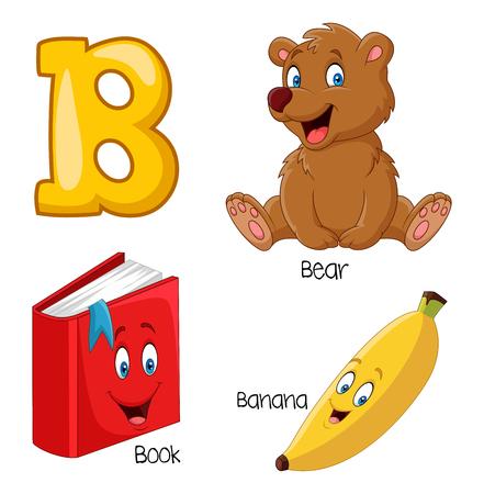 Vector illustration of B alphabet