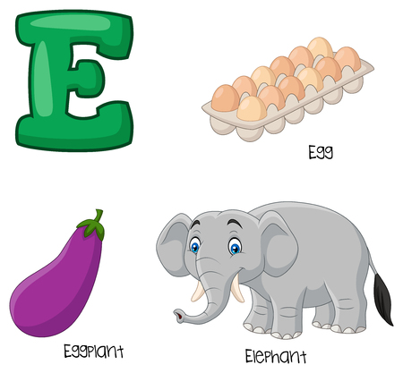 Vector illustration of E alphabet