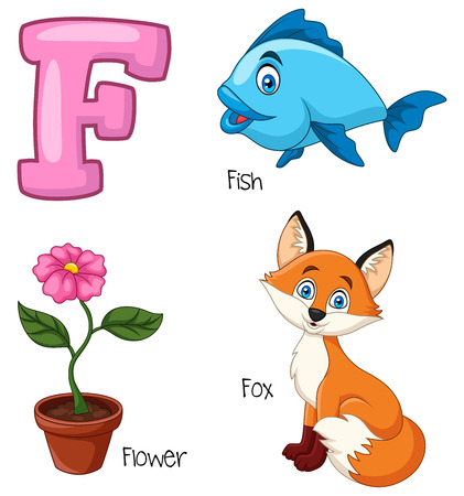 Vector illustration of F alphabet