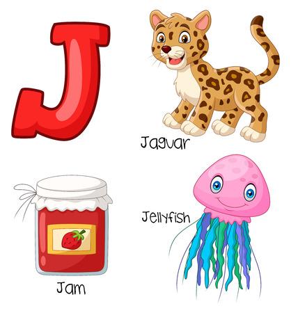 Vector illustration of J alphabet Vettoriali