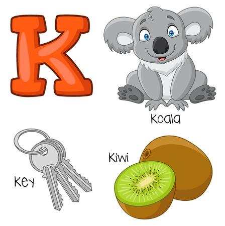 Vector illustration of K alphabet