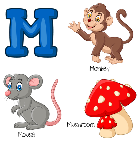 Vector illustration of M alphabet