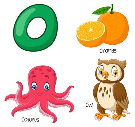 Vector illustration of O alphabet