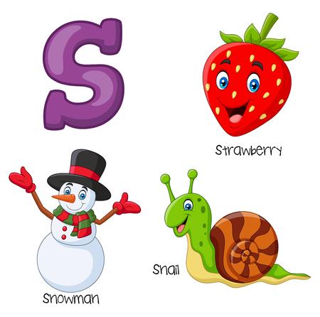 Vector illustration of S alphabet