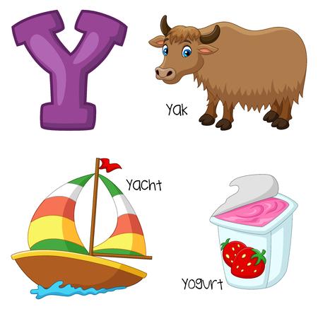 Vector illustration of Y alphabet