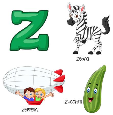 Vector illustration of Z alphabet