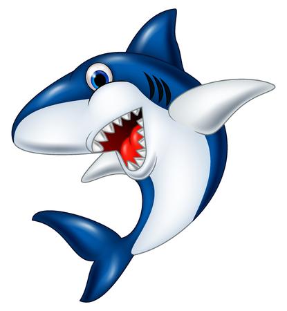 Vector illustration of Shark cartoon
