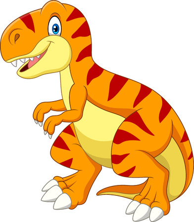 Vector illustration of Cartoon tyrannosaurus isolated on white background  イラスト・ベクター素材