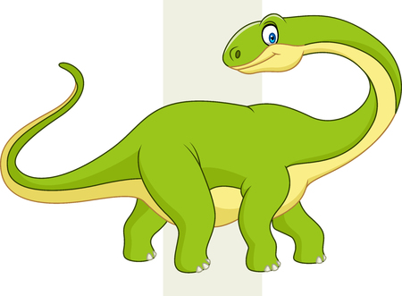 Vector illustration of Cute dinosaur cartoon Illustration