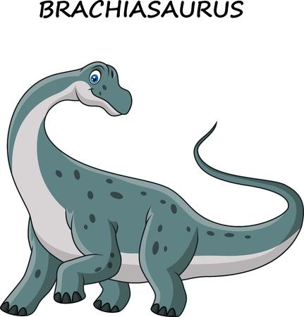 Vector illustration of Cartoon brachiasaurus isolated on white background