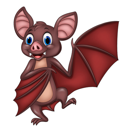 Vector illustration of Cartoon funny bat posing