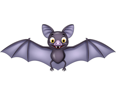 Vector illustration of Cartoon bat isolated on white background