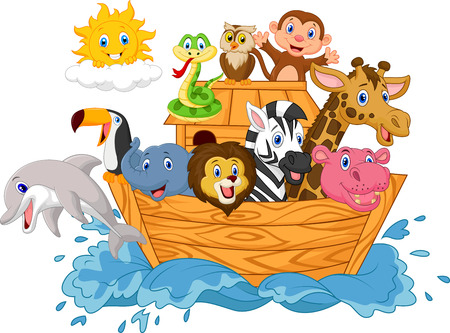 Cartoon Noah's ark