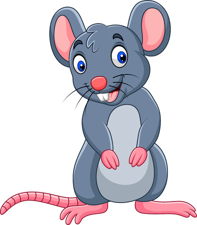 Vector illustration of Cartoon funny mouse