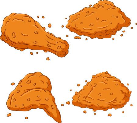 Cartoon fried chicken collection set