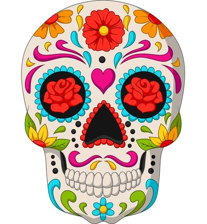 Vector illustration of Day of the Dead Skulls 스톡 콘텐츠 - 121093990