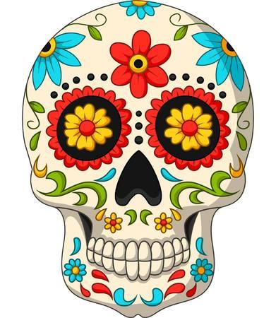 Ilustracja wektorowa dzień zmarłych czaszek