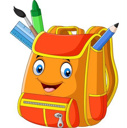 Plecak szkolny kreskówka na białym