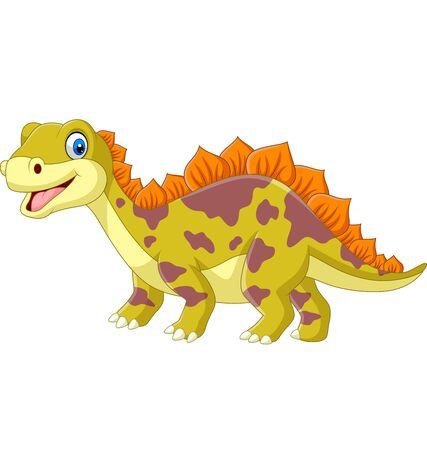 Cartoon dinosaur on white