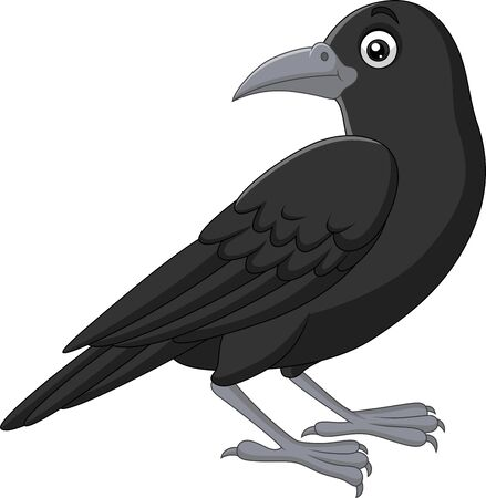 Vector illustration of Cartoon crow isolated on white background Фото со стока - 127425000