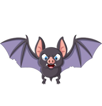 Vector illustration of Cartoon bat flying isolated on white background Фото со стока - 127906274