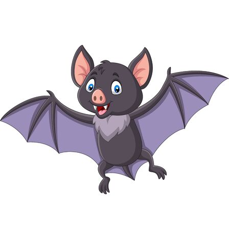 Vector illustration of Cartoon bat flying isolated on white background Фото со стока - 127908248
