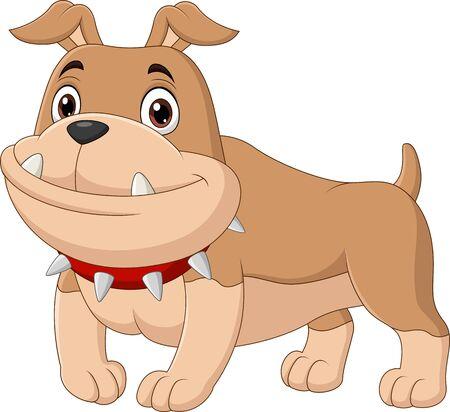 Vector illustration of Cartoon bulldog isolated on white Vettoriali