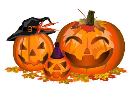 Family halloween pumpkin Illustration