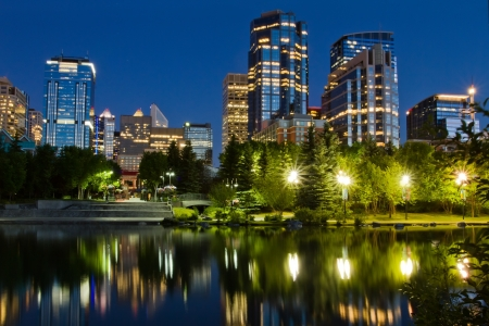 Calgary at night, Canada