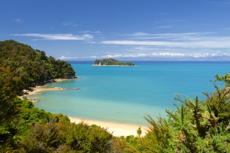 Beautiful New Zealand Landscape. Abel Tasman National Park, South Island.