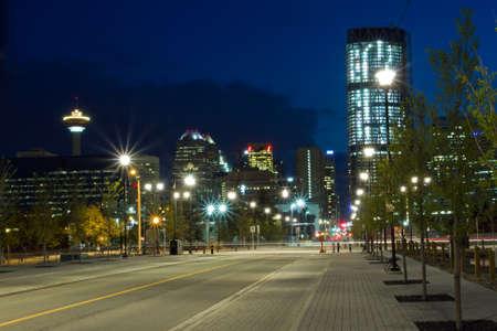 calgary: Calgary, Canada - May 30, 2011: Calgary Downtown at night