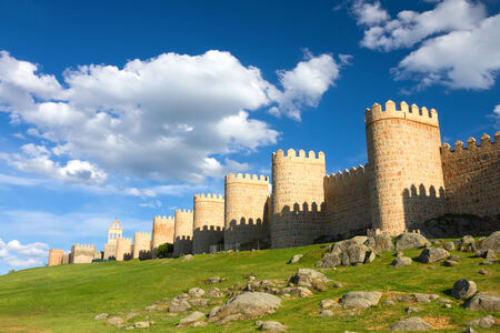 Medieval city wall built in the Romanesque style, Avila  City of Stones and Saints , Spain
