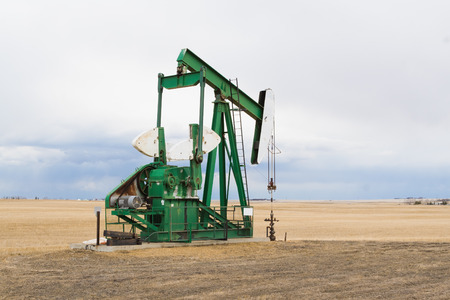 horsehead pump: A pumpjack in Alberta, Canada