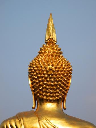 art: Back of Gold Buddha sculpture