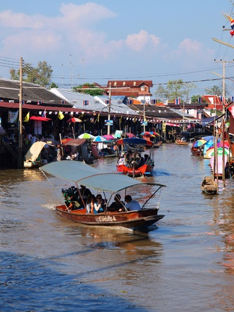 amphawa: Floating market Amphawa Thailand Stock Photo