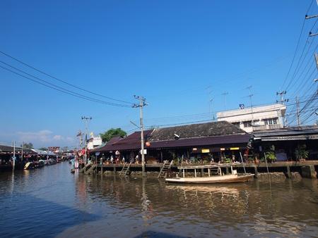 amphawa: Floating market Amphawa Thailand Stock Photo
