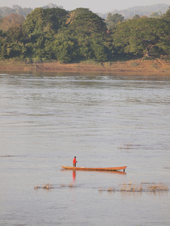 fisheries: Inland fisheries at Mekhong river, The nature boundary of Thailand-Laos